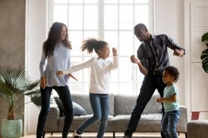 Happy African American having fun together indoors