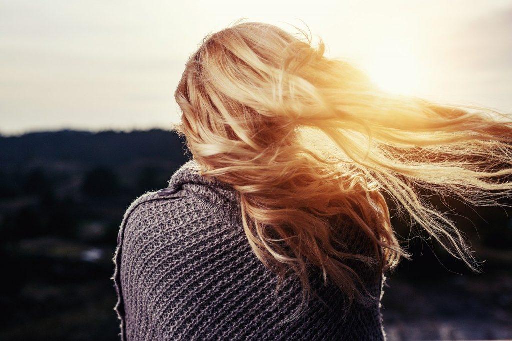 girl, hair, blowing