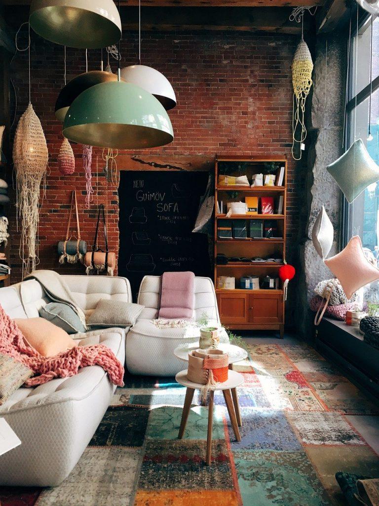 brick wall, room, interior design
