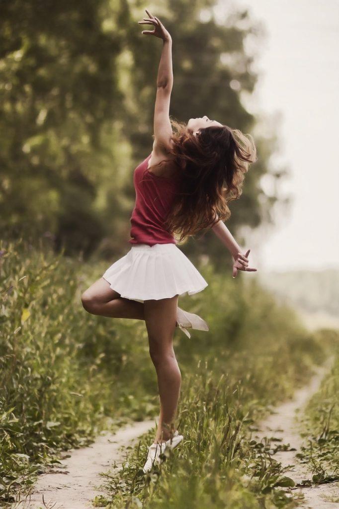 girl, model, skirt