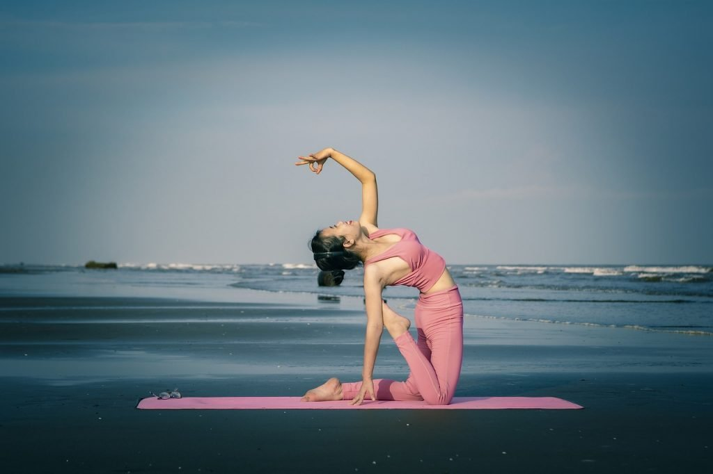 yoga, girl, beautiful